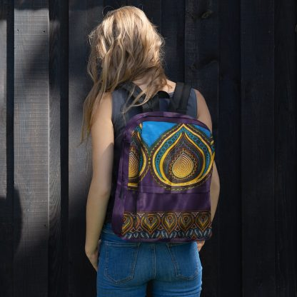 Purple Teardrop Laptop Backpack